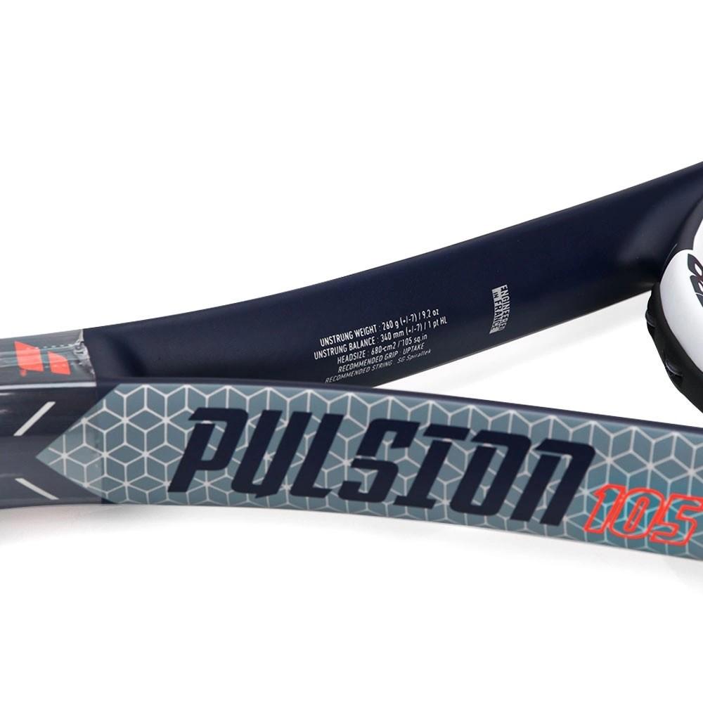 Raquete de Tênis Babolat Pulsion 105 Cinza e Vermelha