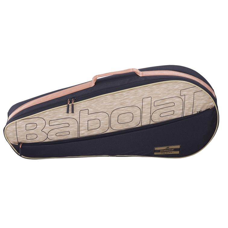 Raqueteira Babolat Holder Club X3 - Preto e Bege