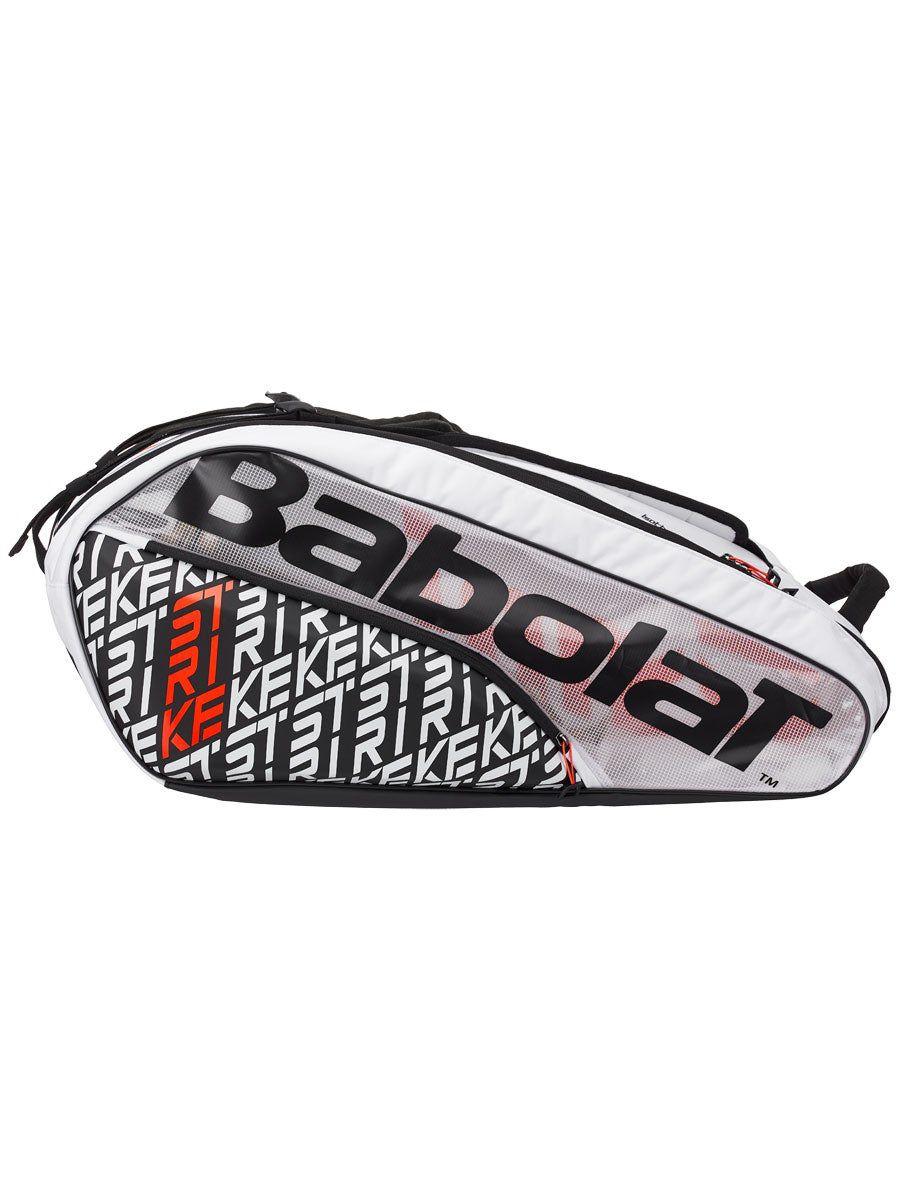 Raqueteira Babolat Pure Strike X12 Branca Vermelha e Preta