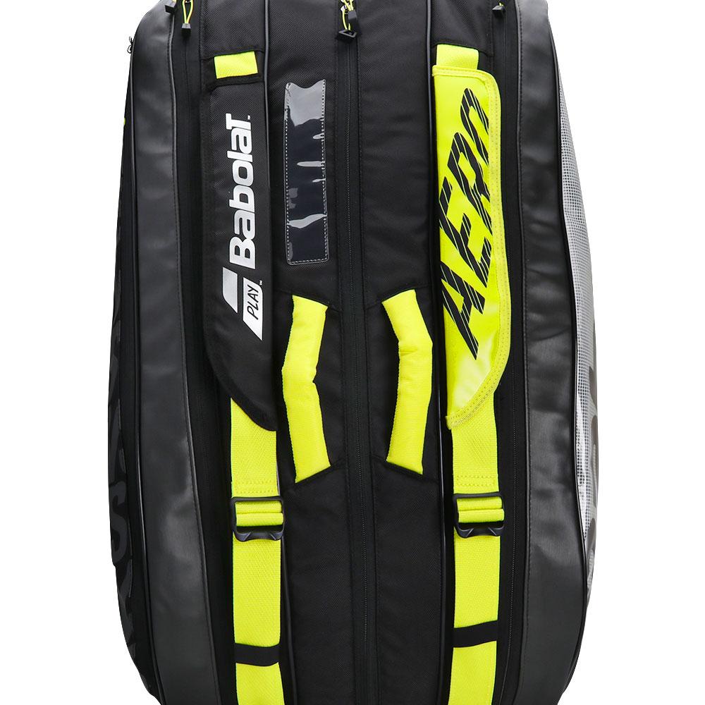 Raqueteira Babolat RH X9 Pure Aero VS Preto e Amarelo