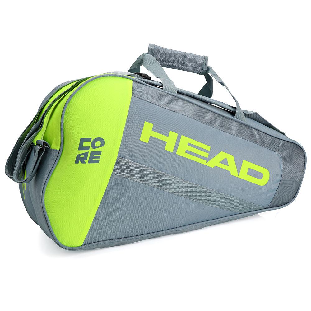 Raqueteira De Beach Tennis Head Core Cinza e Amarela