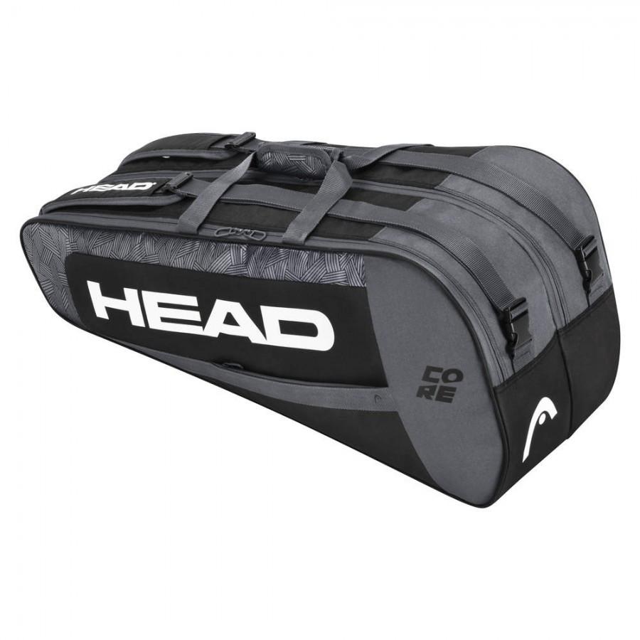 Raqueteira Head Core 6R Combi Preta e Cinza