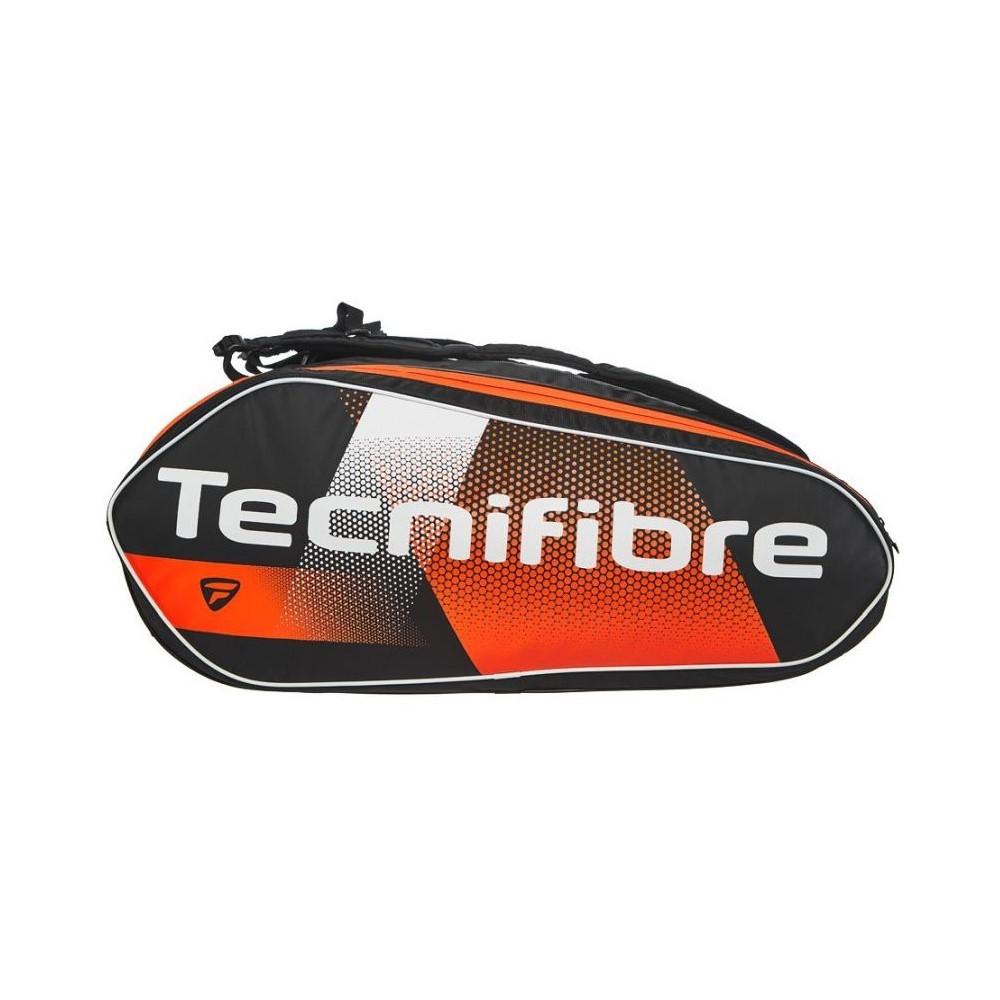 Raqueteira Tecnifibre Air Endurance 12R Preta e Laranja