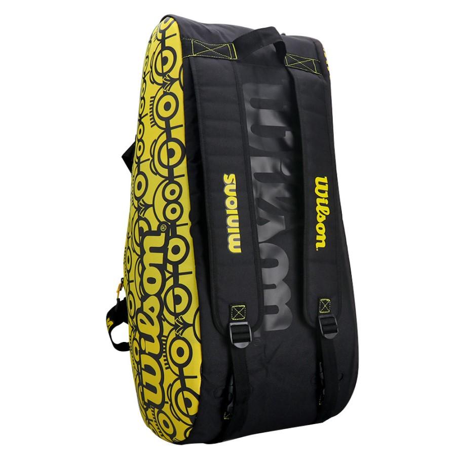 Raqueteira Wilson ESP Minions Tour X12 Preta e Amarela