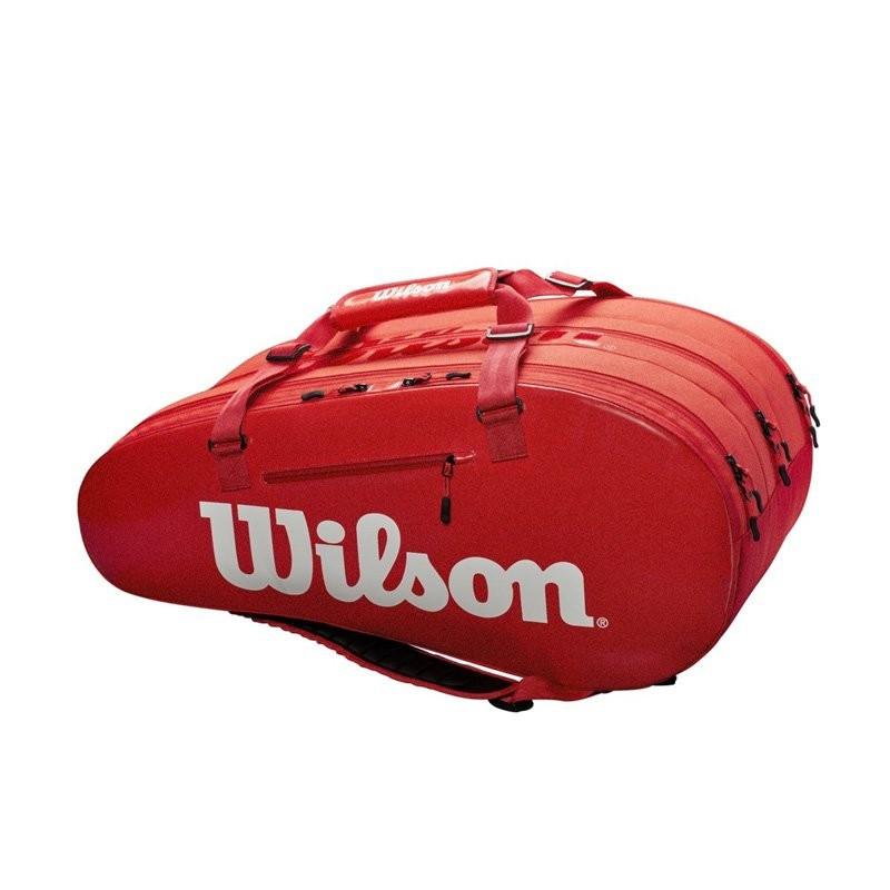 Raqueteira Wilson ESP Super Tour X15 Vermelha