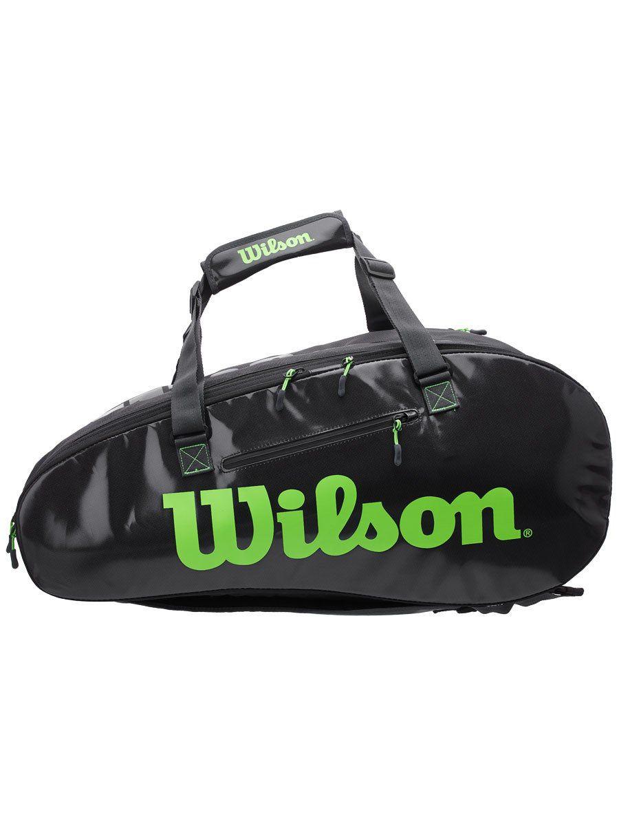 Raqueteira Wilson ESP Super Tour X9 Preta e Verde