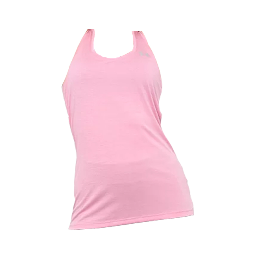 Regata Under Armour Tech Tank Twist Rosa Claro e Prata - Feminina