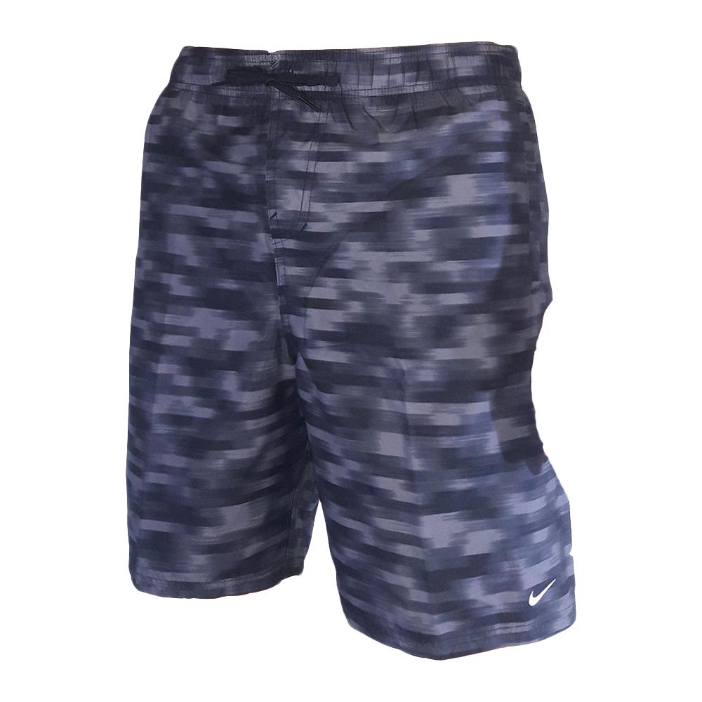 Shorts Nike Swim Volley 9 Mescla Preto e Branco