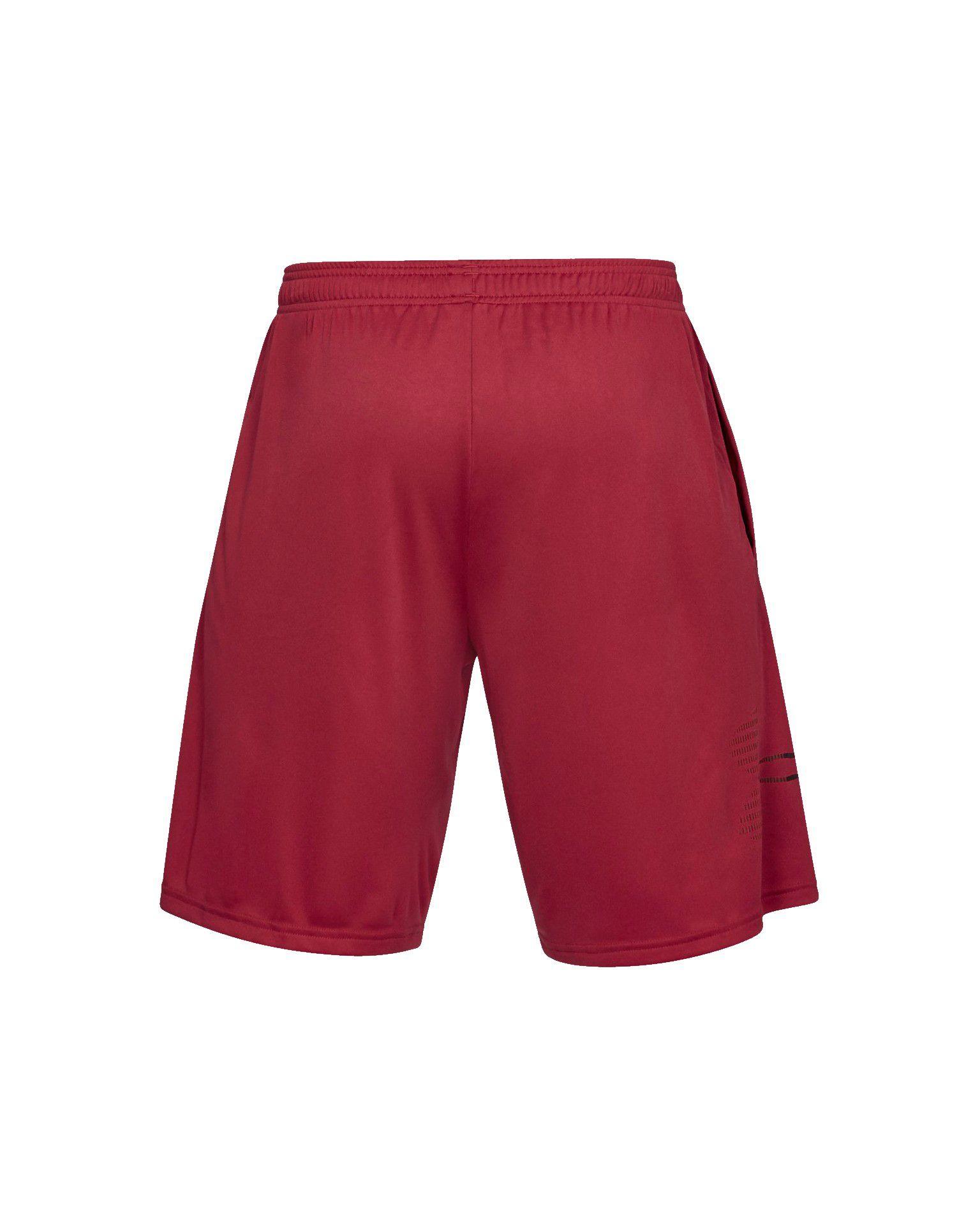 Shorts Under Armour Tech Graphic Vermelho