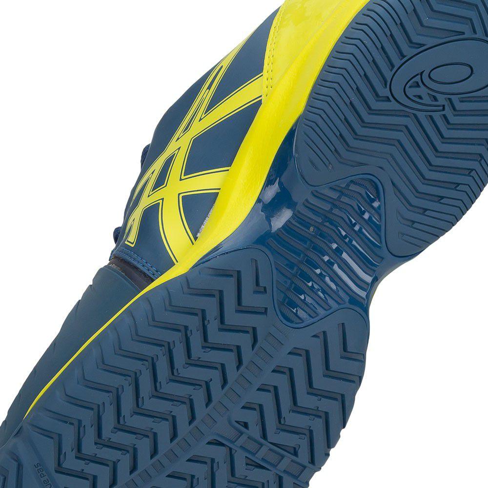 Tênis Asics Gel Court Speed Azul Petróleo e Verde Limão