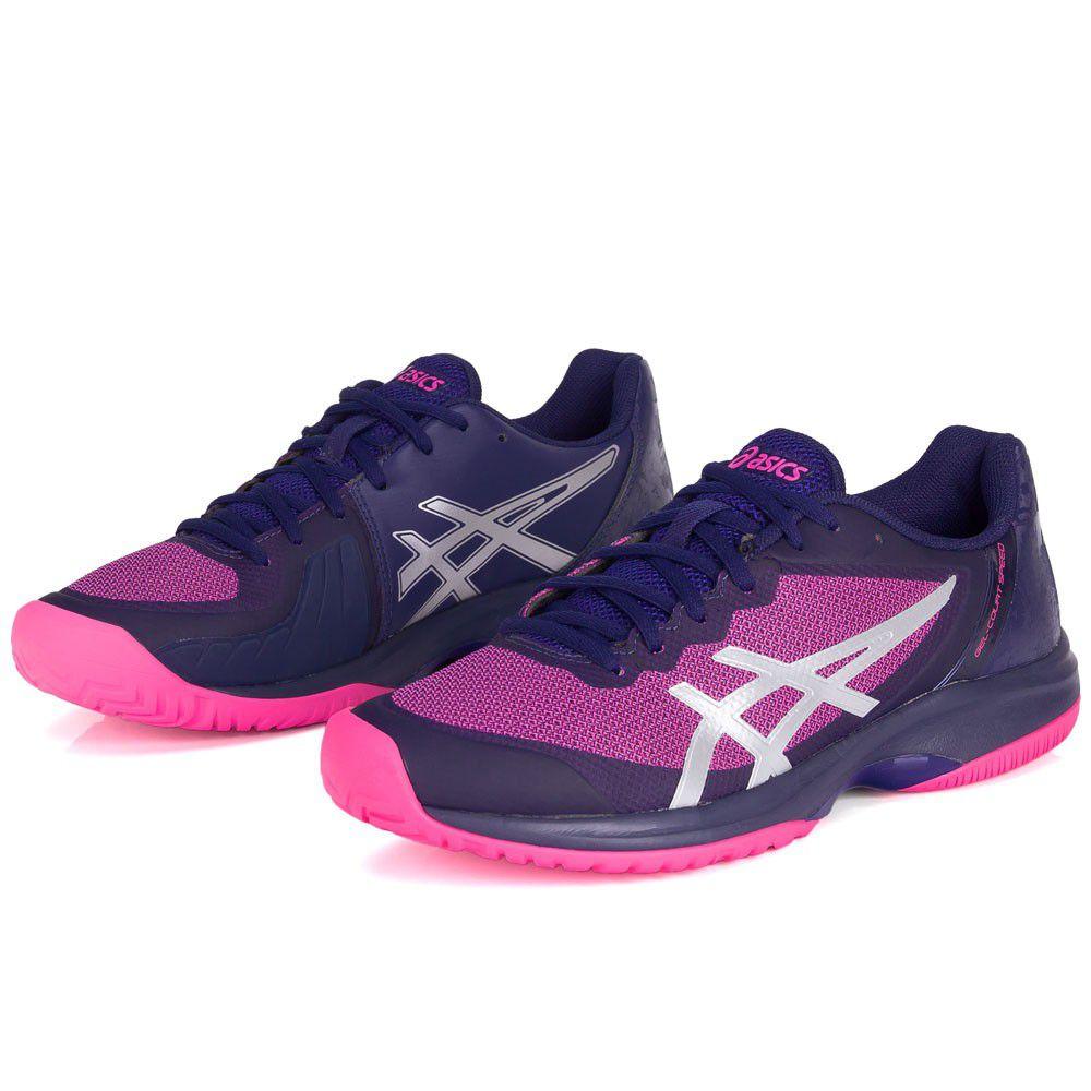 Tênis Asics Gel Court Speed Marinho e Pink