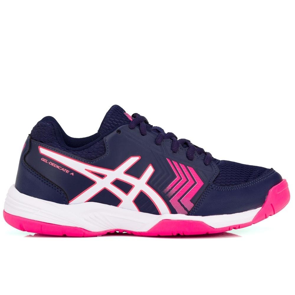 3374c28cc5 Tênis Asics Gel Dedicate 5 A Marinho e Pink - Spinway Tennis e Beach Tennis  ...
