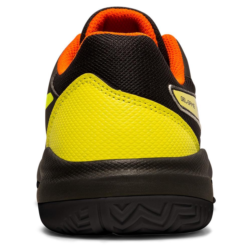 Tênis Asics Gel Game 7 GS Preto e Amarelo