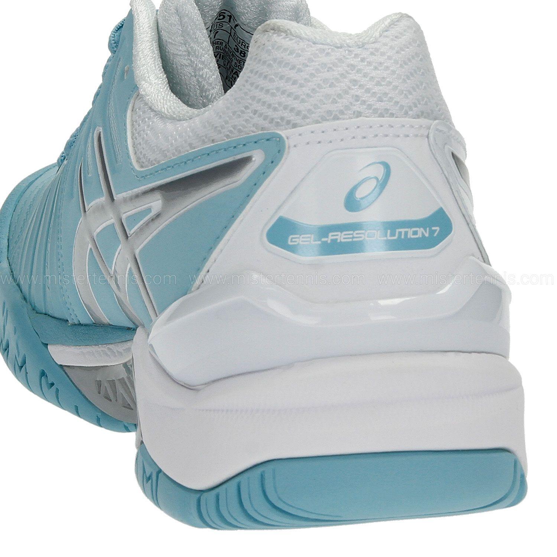 aef9254a832 ... Tênis Asics Gel Resolution 7 Azul Claro Prata e Branco - Spinway Tennis  e Beach Tennis