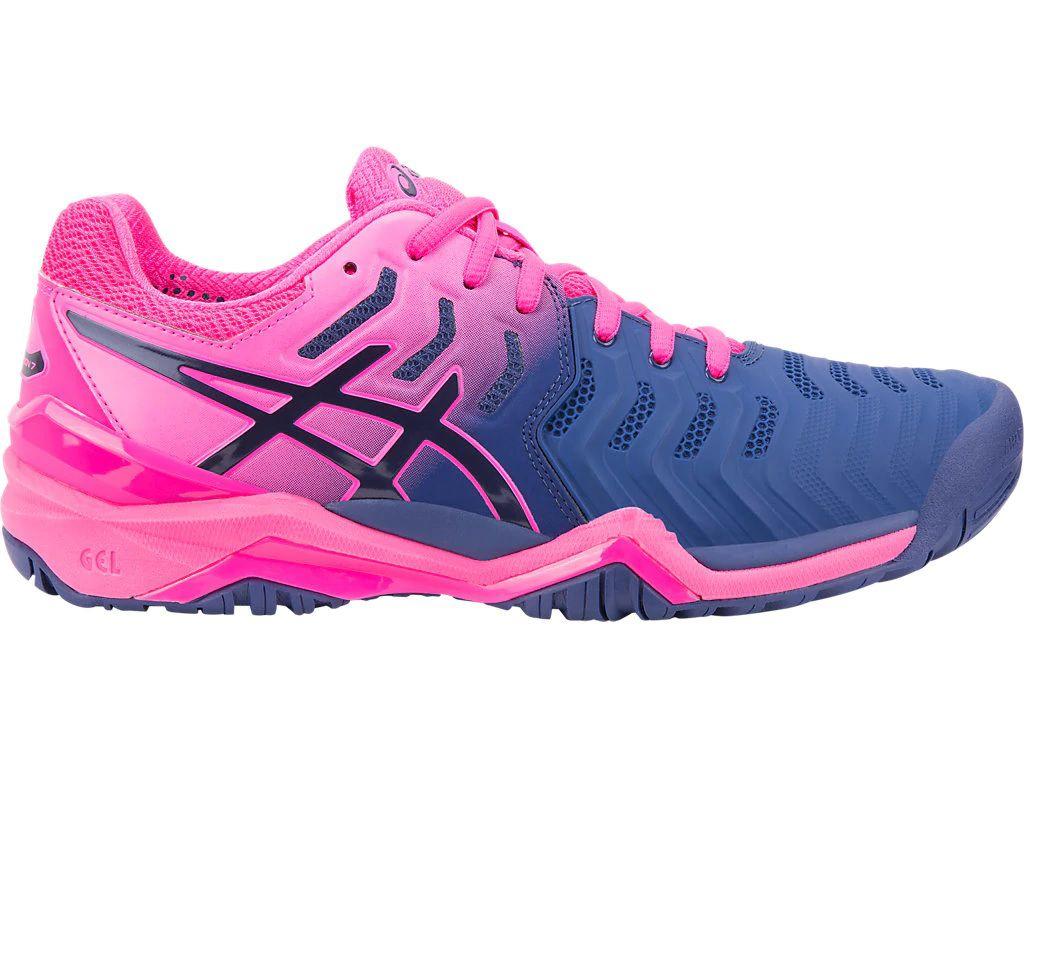 2bd8c08d247 Tênis Asics Gel Resolution 7 Azul e Pink - Spinway Tennis e Beach Tennis ...