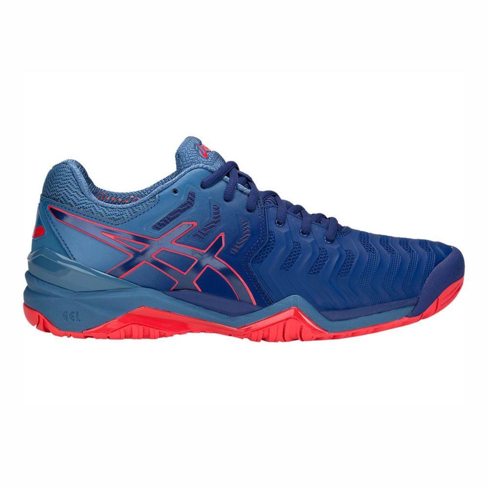 af3bdf384d Tênis Asics Gel Resolution 7 Azul e Vermelho - Spinway Tennis e Beach Tennis  ...