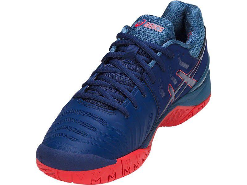 2429a3e688 ... Tênis Asics Gel Resolution 7 Azul e Vermelho - Spinway Tennis e Beach  Tennis ...