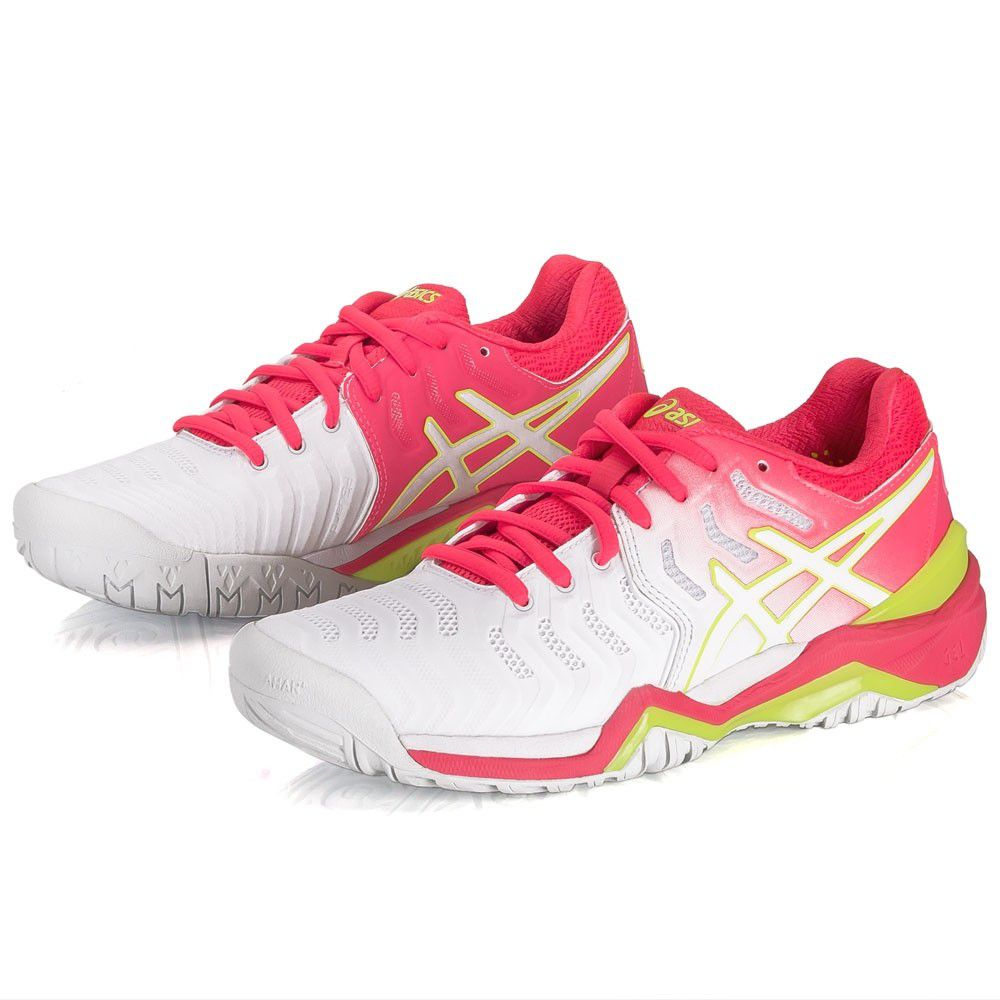 Tênis Asics Gel Resolution 7 Branco e Pink