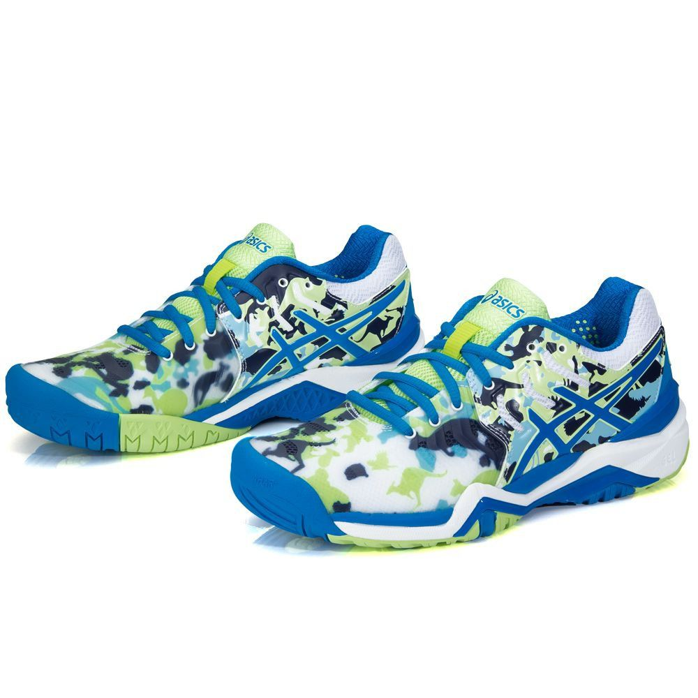 ... Tênis Asics Gel Resolution 7 L.E Melbourne Azul Verde e Branco -  Spinway Tennis e Beach 0cdd9dbcbcf4c