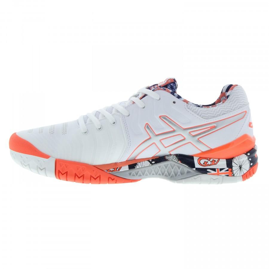 4bce0867b53 ... Tênis Asics Gel Resolution 7 Wimblendon Branco e Laranja - Spinway  Tennis e Beach Tennis ...