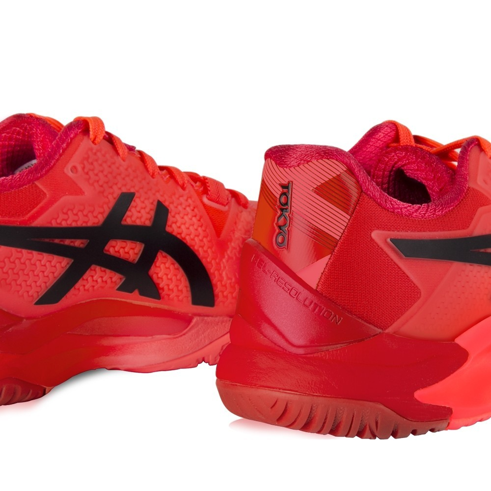 Tênis Asics Gel Resolution 8 Tokyo Coral Vermelho e Preto - Masculino