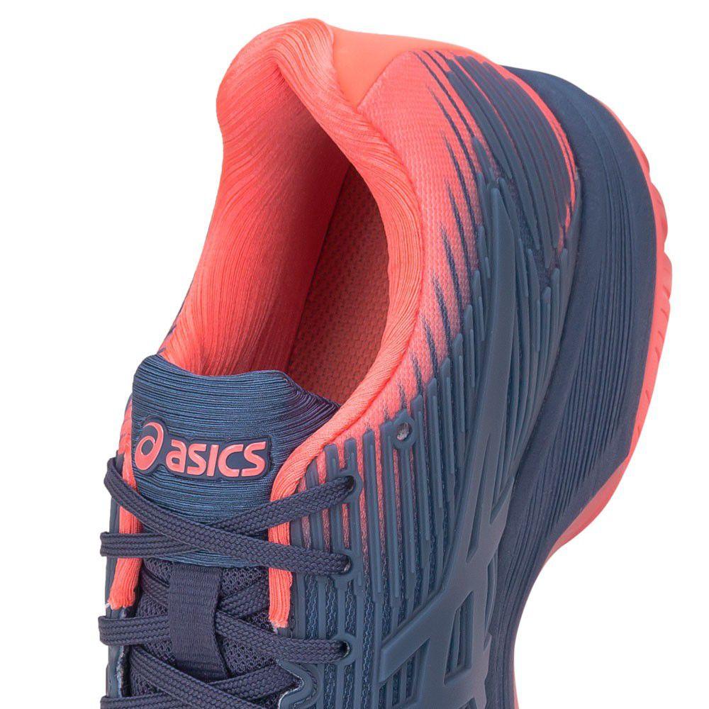 Tênis Asics Gel Solution Speed FF Azul e Papaya