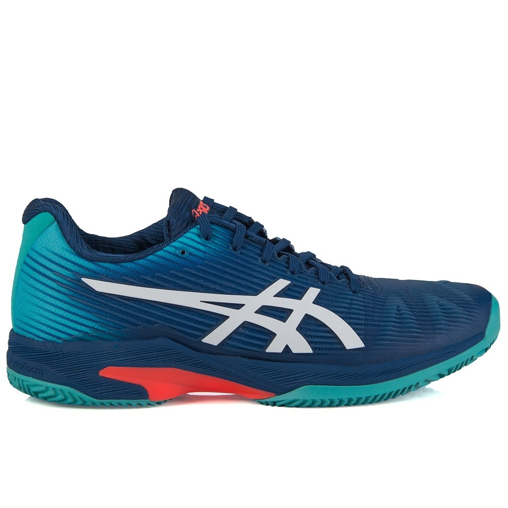 Tênis Asics Gel Solution Speed FF Clay Mako Azul e Branco