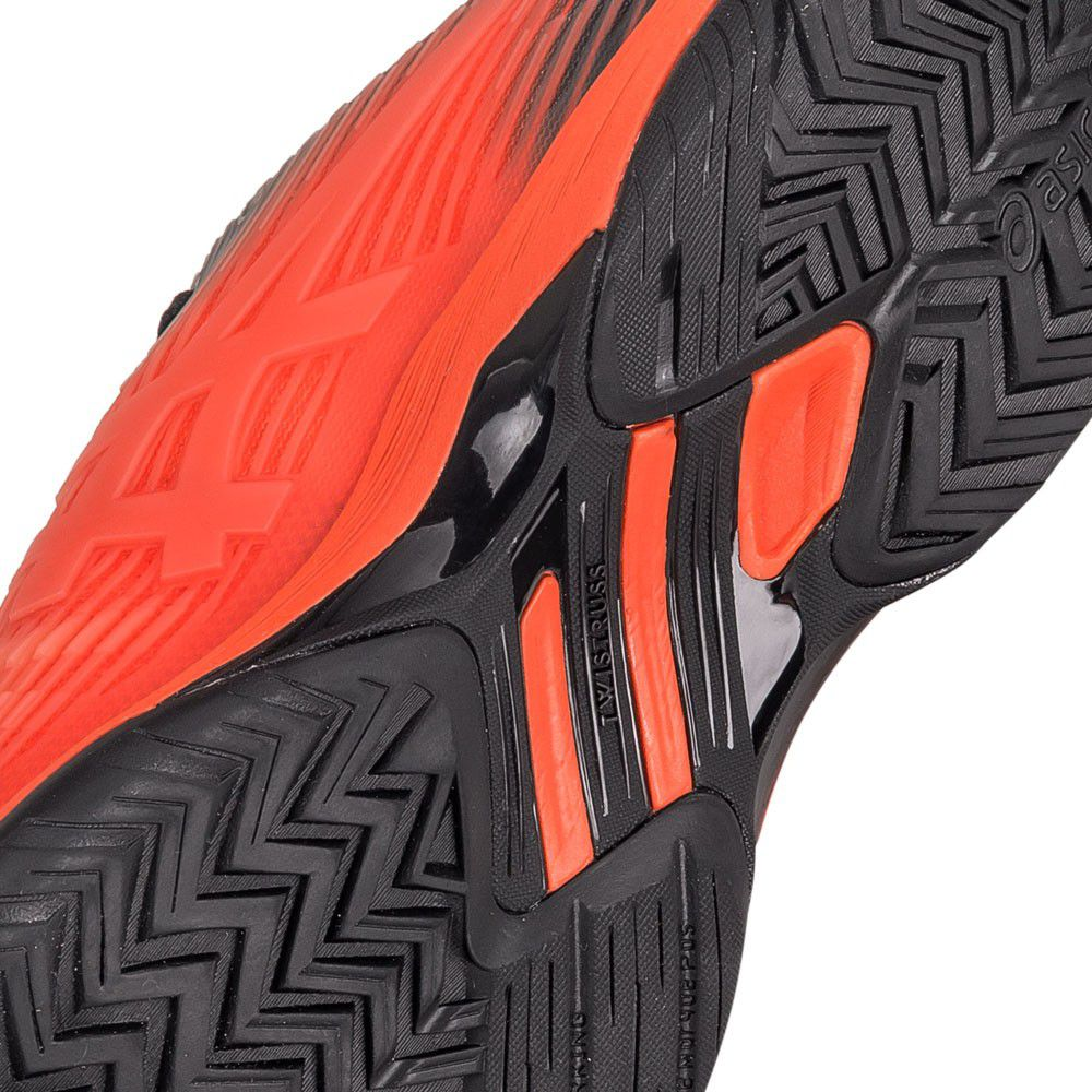Tênis Asics Gel Solution Speed FF Laranja e Preto
