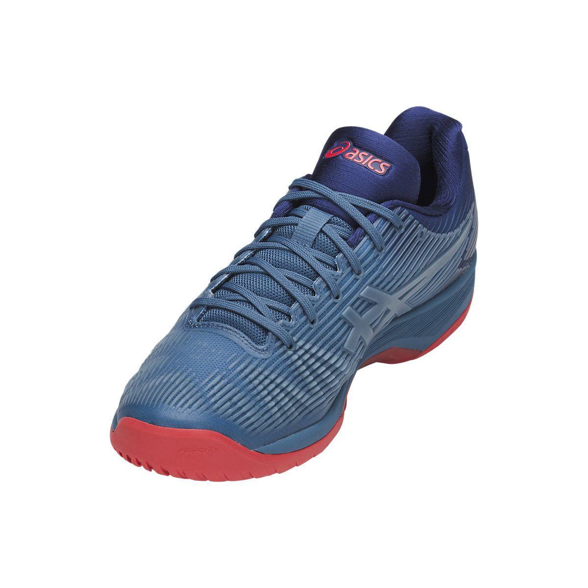 44ad5f31f6e ... Tênis Asics Solution Speed FF Azul Branco e Vermelho - Spinway Tennis e Beach  Tennis ...