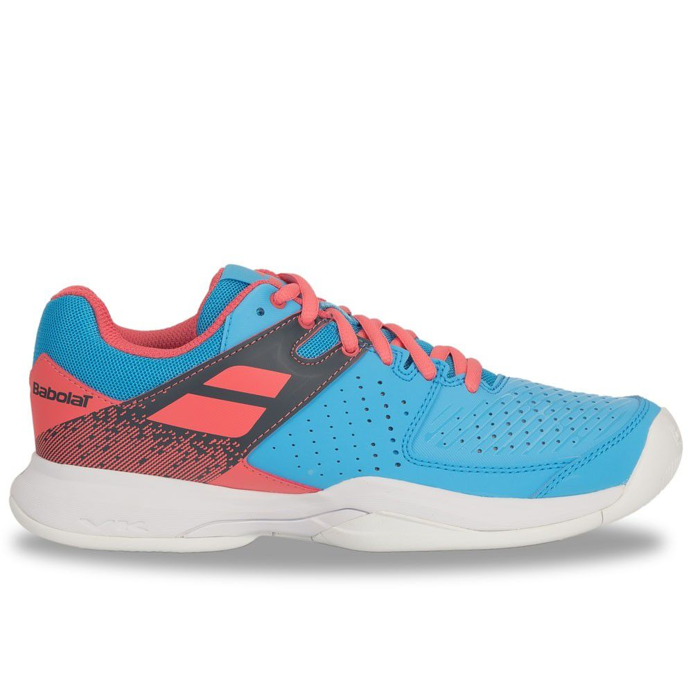 Tênis Babolat Pulsion All Court Azul e Rosa