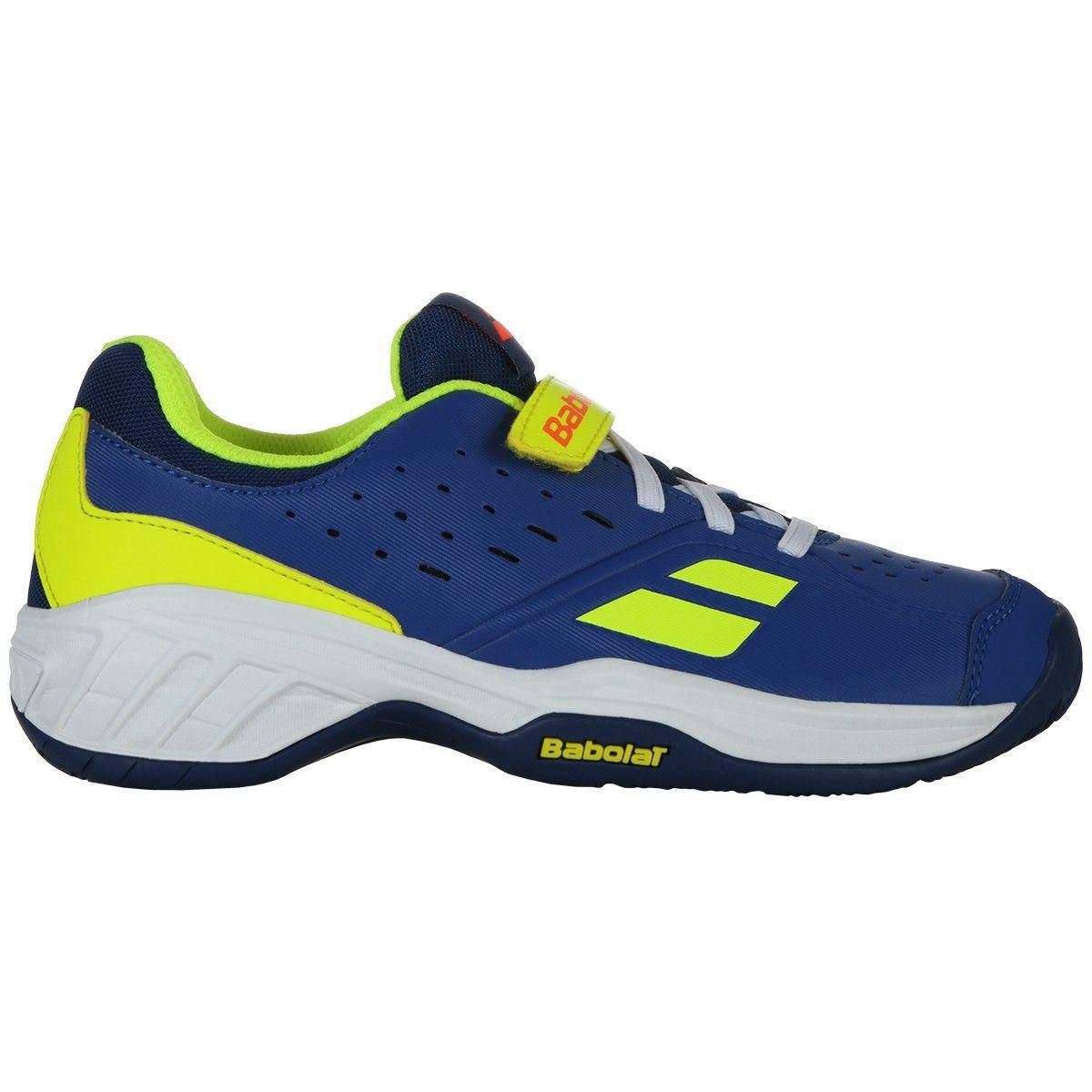 Tênis Babolat Pulsion All Court Kid Azul e Amarelo