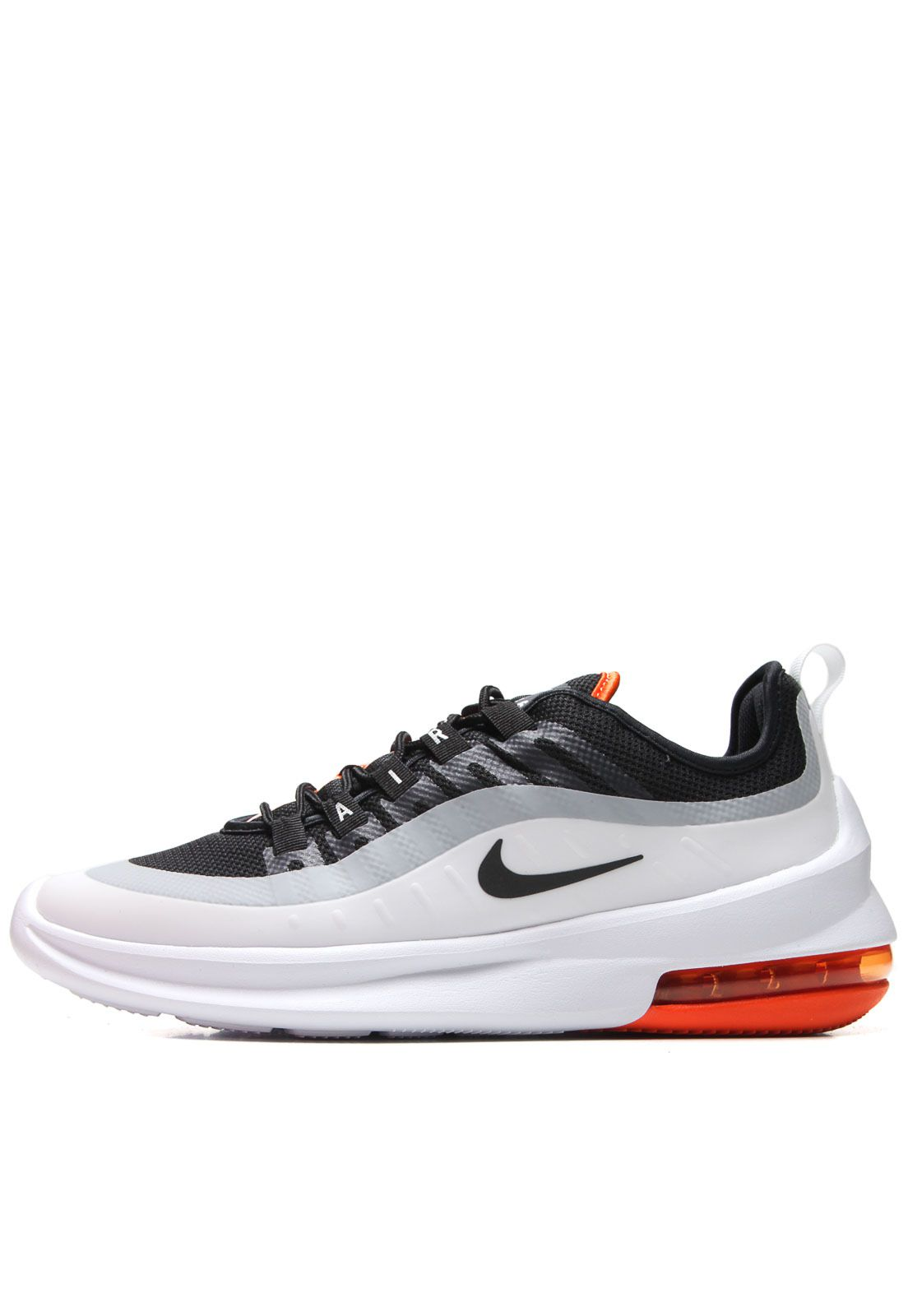 Tenis Nike Air Max Axis Preto Branco e Laranja