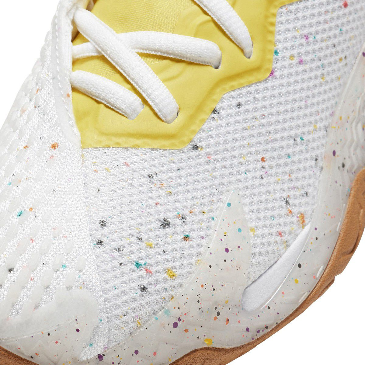 Tênis Nike Air Zoom Vapor Cage 4 HC Branco Azul e Amarelo