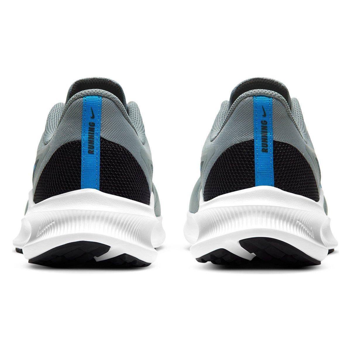 Tênis Nike Downshifter 10 Cinza e Azul - Masculino