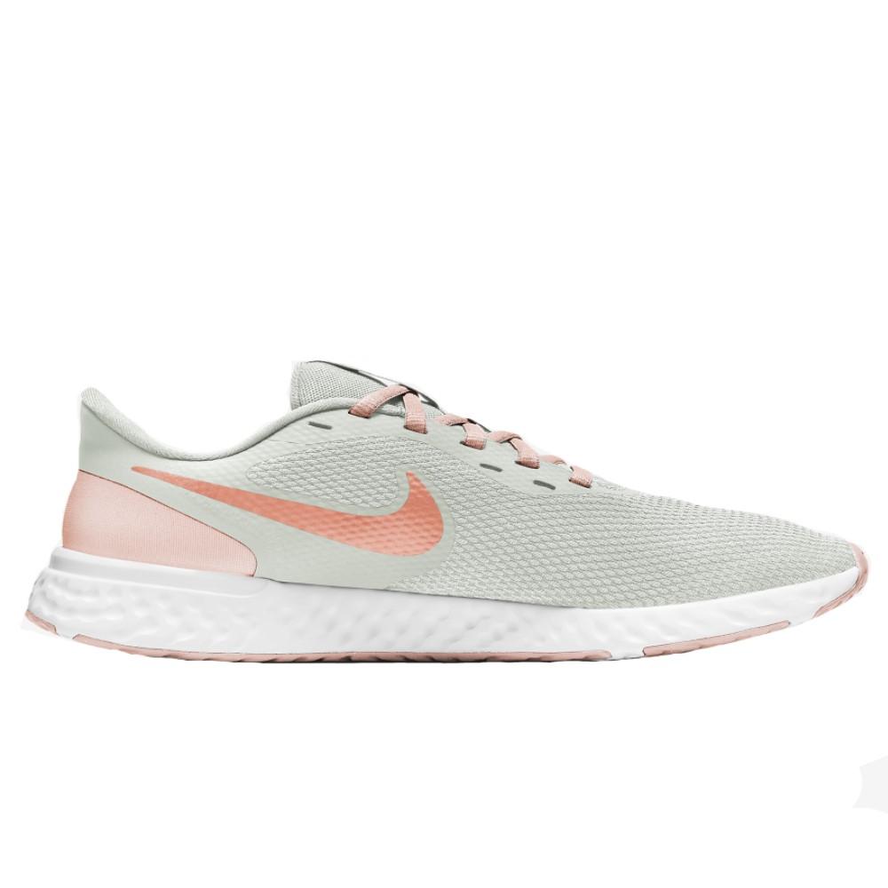 Tênis Nike Revolution 5 Creme e Terracota - Feminino