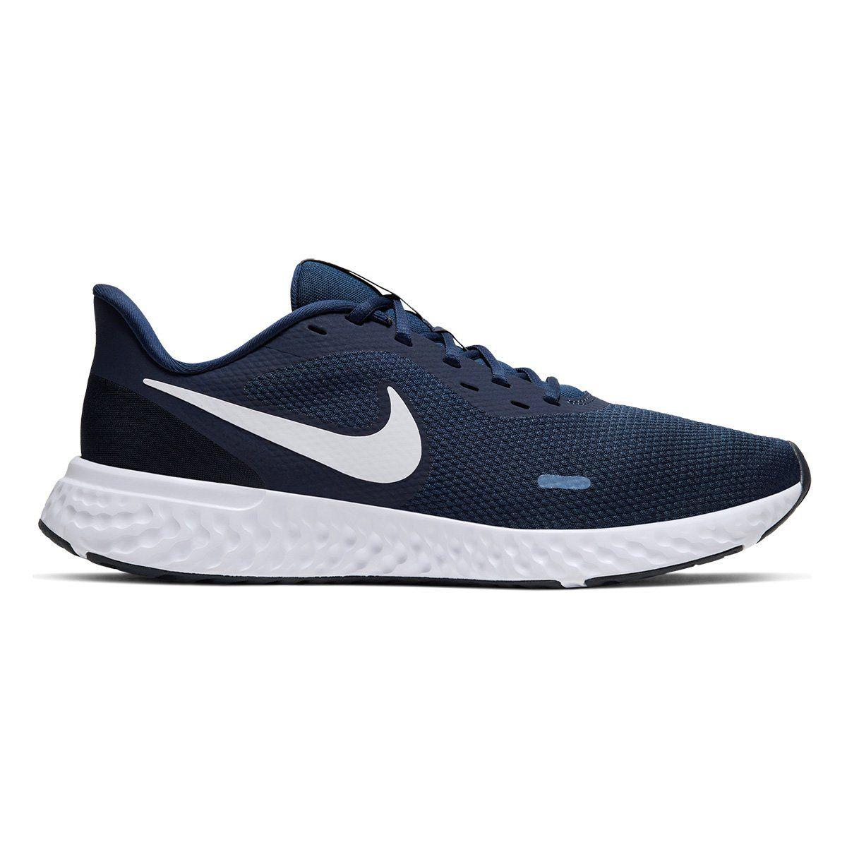 Tênis Nike Revolution 5 Marinho e Branco - Masculino