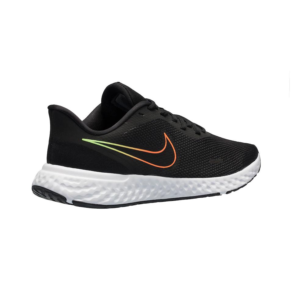 Tênis Nike Revolution 5 Preto e Laranja - Masculino