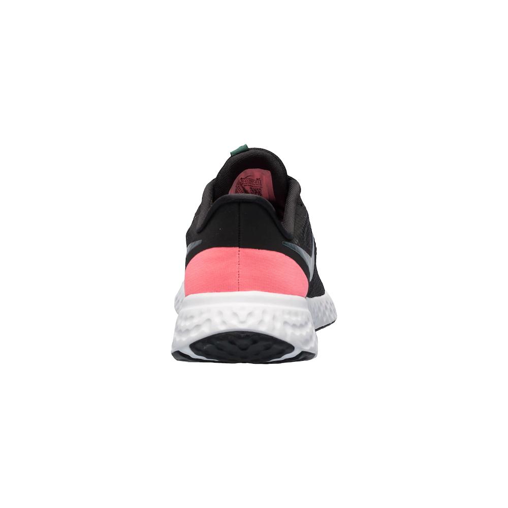 Tênis Nike Revolution 5 Preto e Rosa - Feminino