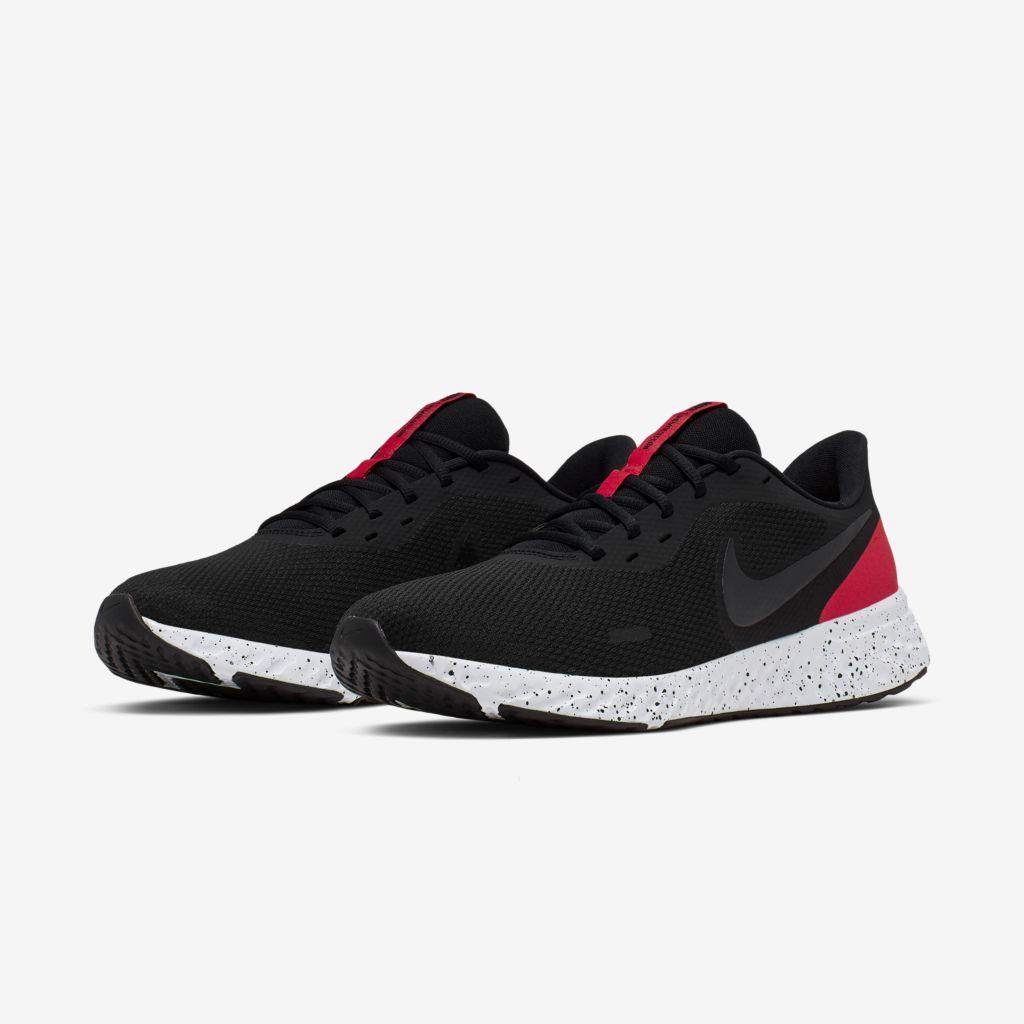 Tênis Nike Revolution 5 Preto e Vermelho - Masculino