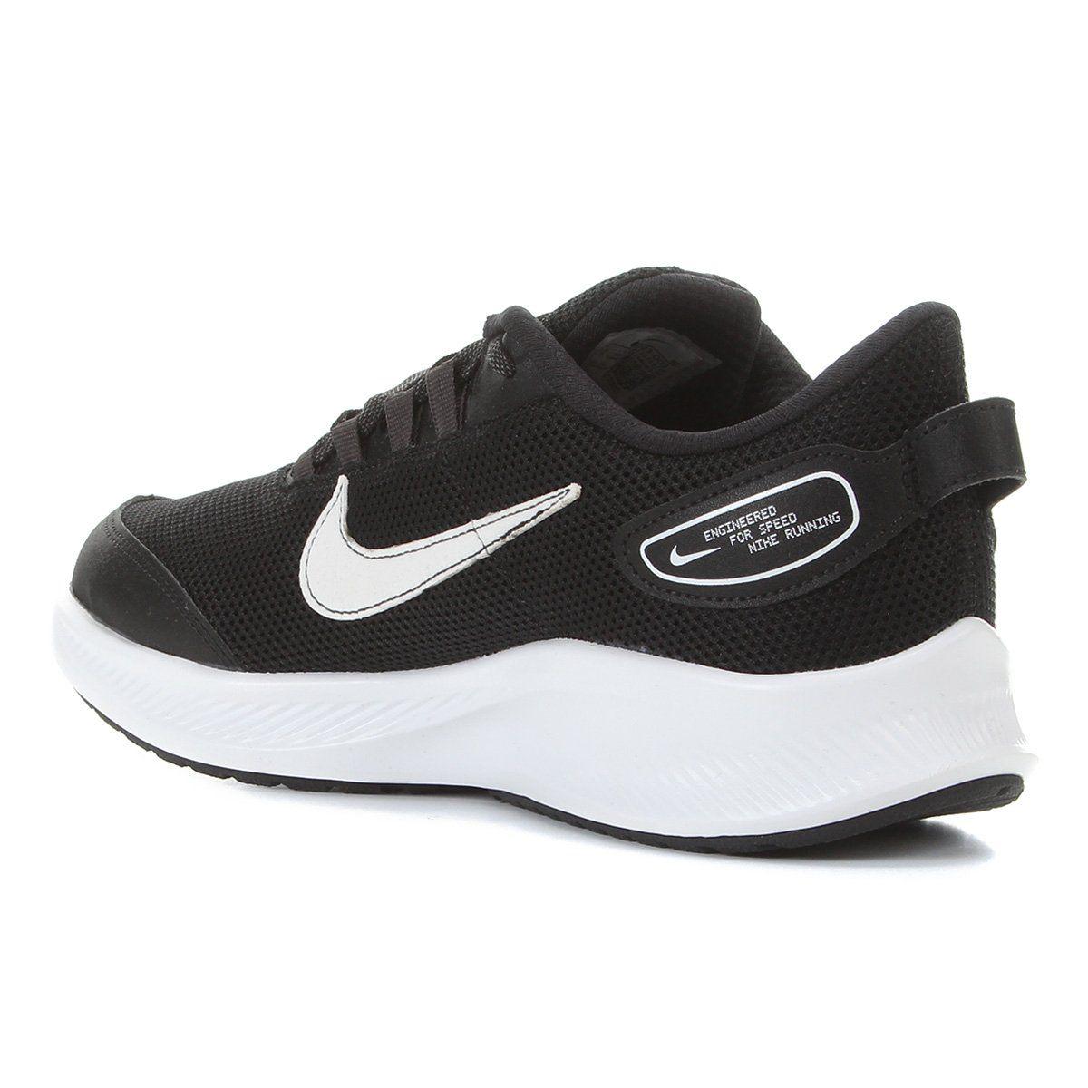 Tênis Nike Runallday 2 Preto e Branco