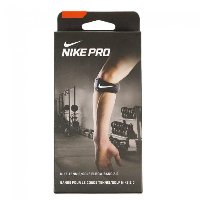 Tennis Golf Elbow Nike Band 2.0 Preto e Branco - P/M