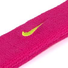 Testeira Nike Swoosh Pink e Amarelo
