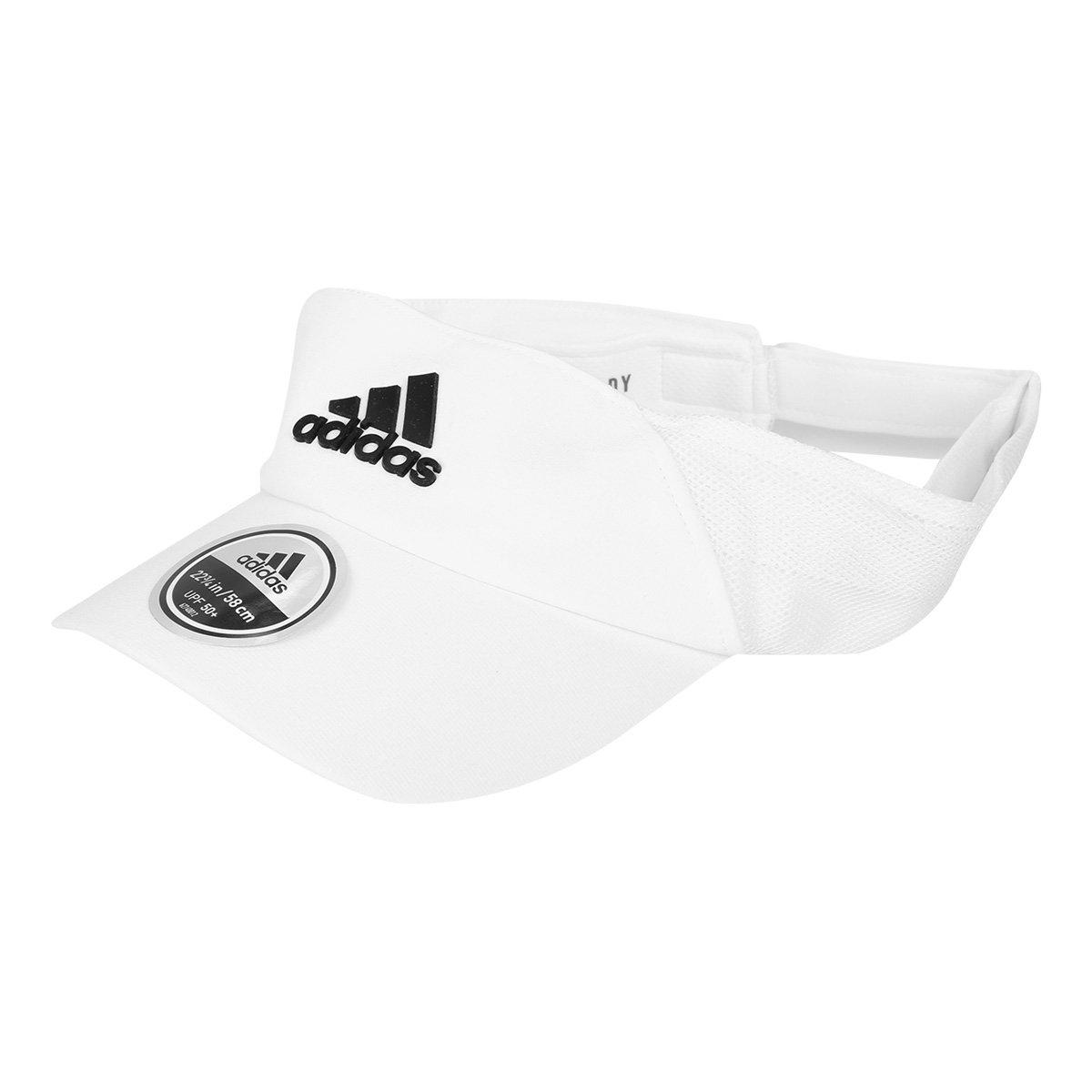 Viseira Adidas Aeroready Branca e Preta