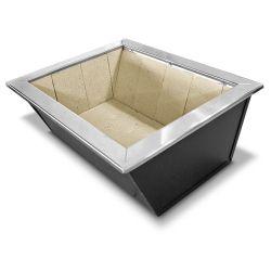 Caixa de Braseiro de Aço Carbono para Bancada - JX Metais - 80 x 50