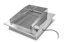 Churrasqueira Elétrica de Embutir de Inox 127 V- Pequena - JX Metais