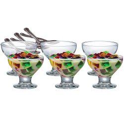 Conjunto de Taças para Sobremesa 12 peças New Paradise