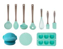 Kit Utilidades doméstica candy verde completo