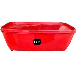 Pote Vermelho Retangular 3Lts Uz Utilidades UZ239-V