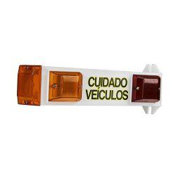 Sinalizador Veicular Branco Sinaleira com Led Techna Garagem