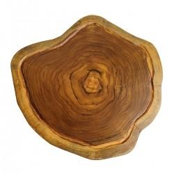 Tábua de Madeira Rústica Teca 34 x 32 cm